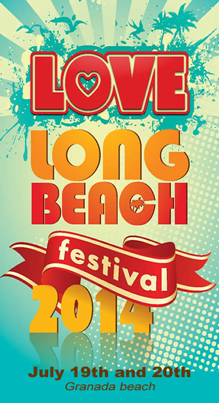 love long beach festival flyer