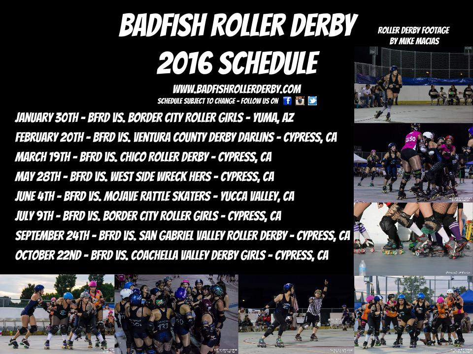 2016 Season Schedule